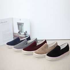 STYLEBYYAM - Faux-Suede Espadrille Slip-Ons