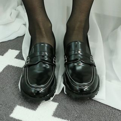 Dodostyle - Faux-Leather Stitched Loafers
