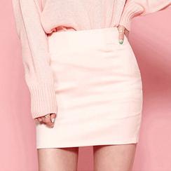 chuu - 多选色迷你铅笔裙