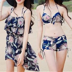DJ Design - Set: Print Bikini + Cover-Up