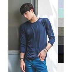 STYLEMAN - Round-Neck Long-Sleeve T-Shirt