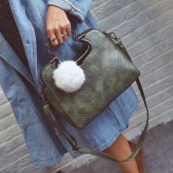 兔貝貝 - 毛球掛飾手提斜挎包