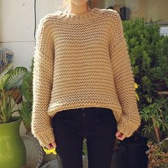 FR - Loose Fit Chunky Knit Sweater