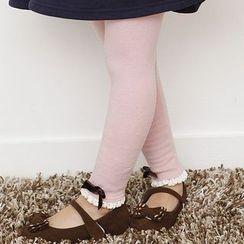 Cuckoo - Kids Frill Trim Bow Leggings