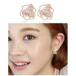 Miss21 Korea - Rose Stud Earrings