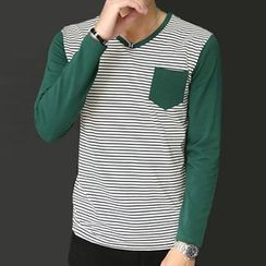 Fesso - Long-Sleeve Striped T-Shirt