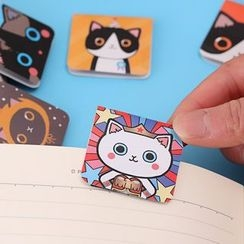 Color Station - Set of 3 : Cartoon Cat Magnetic Bookmark