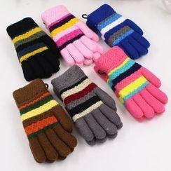 Evora - Kids Striped Gloves
