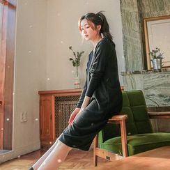 Seoul Fashion - V-Neck T-Shirt Dress