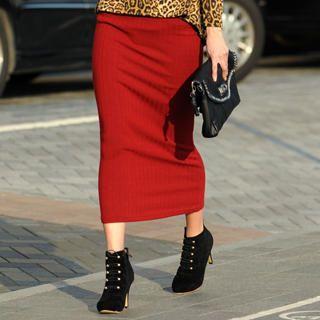 59 Seconds - Long Knit Skirt