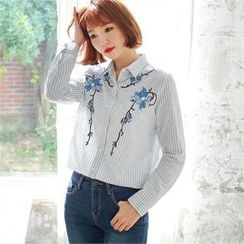 Styleberry - Floral Embroidered Shirt