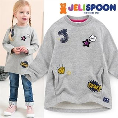 JELISPOON - Girls Appliqué Pullover Dress