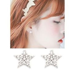 kitsch island - Rhinestone Star Earrings