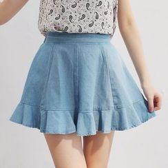 Tokyo Fashion - Frilled Denim Skirt