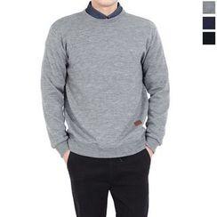 Seoul Homme - Crew-Neck Plain Sweater