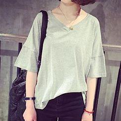 Shimi - 寬鬆V領T恤