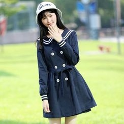 Pipafellow - Striped Trench Coat