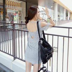 REDOPIN - Cutaway Shoulder T-Shirt Dress