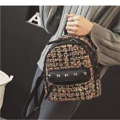 Merlain - Studded Woven Backpack