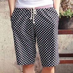 BOIE - Dotted Drawstring Swim Shorts