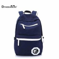 DtheEagles - Contrast Trim Canvas Backpack