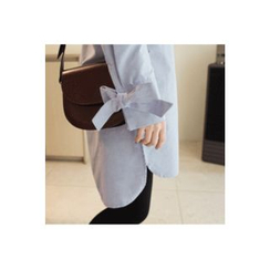 CHERRYKOKO - Ribbon-Detail Long Shirt