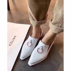 安若 - 仿皮尖頭輕便鞋