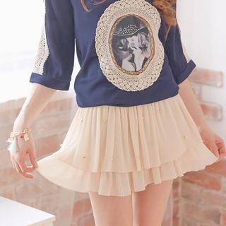 Tokyo Fashion - Studded Pleated Skirt
