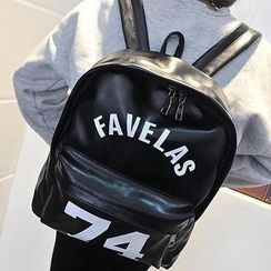 Miss Sweety - Faux-Leather Lettering Backpack