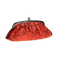 Glam Cham - Faux Leather Glitter Clutch