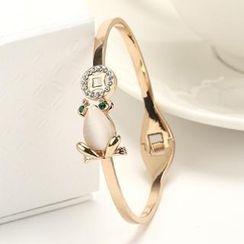 O.SA - Jeweled Frog-Accent Bangle