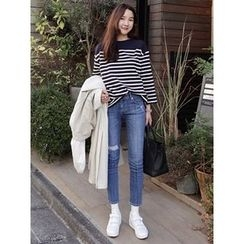 maybe-baby - Distressed Skinny Jeans