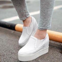 Pangmama - Hidden-Heel Platform Slip-Ons