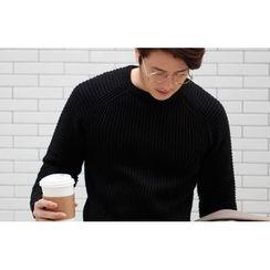 SCOU - Raglan-Sleeve Rib-Knit Top