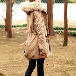 Tokyo Fashion - Faux Fur Trim Hooded Parka