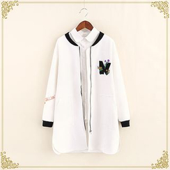 Fairyland - Applique Zip Long Jacket