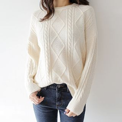 WITH IPUN - Cable-Knit Sweater