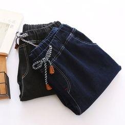 Bonbon - Drawstring Straight-Cut Jeans