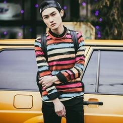 Hawoo - Long-Sleeve Striped T-Shirt