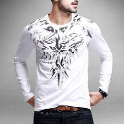 Quincy King - Patterned Long-Sleeve T-shirt