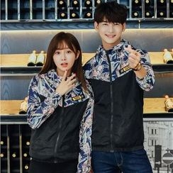 We Belong - Couple Matching Print Panel Hooded Jacket