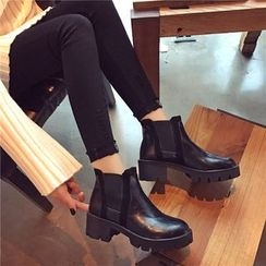Hipsole - Chunky-Heel Ankle Boots