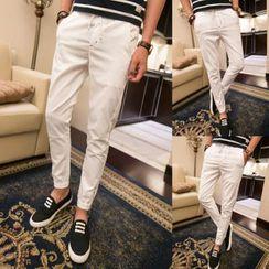 Breeson - Plain Slim-Fit Pants