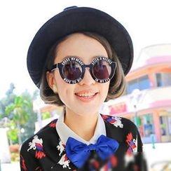 UnaHome Glasses - Lettering Round Sunglasses