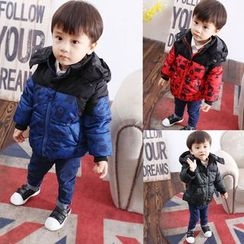 POMME - Kids Print Hooded Padded Jacket