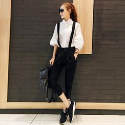 Enjoi - Set: Plain Stand Collar Shirt + Jumper Pants