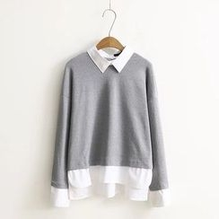Aigan - Mock Two-Piece Shirt