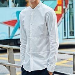 Maykor Jane - Band Collar Long-Sleeve Shirt