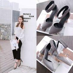 Megan - Chunky-Heel Sandals