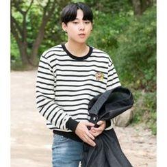 ABOKI - Cotton Stripe Sweatshirt